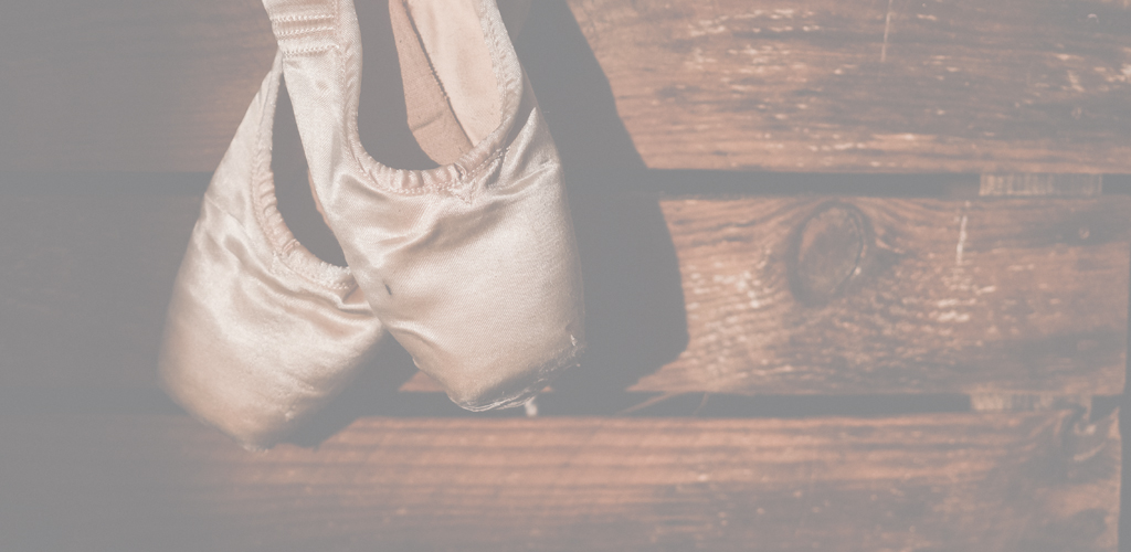 image of ballet shoes that require focus to dance well